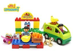 Little Treasures 42 Pc Snap Together Building Brick Mighty G