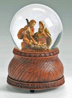 Christmas Snow Globe - Fontanini Holy Family Musical Watergl