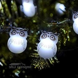 Snow Owl LED String Lights By IMPRESS LIFE on 10 ft Copper W