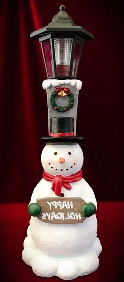Snowman Christmas Decor Outdoor Garden Solar light Statue Fi