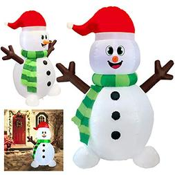 Joiedomi 5 Foot Snowman Inflatable LED Light Up Christmas Xm
