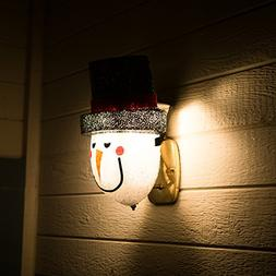 Snowman Porch Light Cover - Light up Your Night with a Glowi