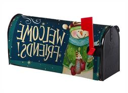 Snowman Welcome Friends Standard Mailbox Cover Magnetic Hold