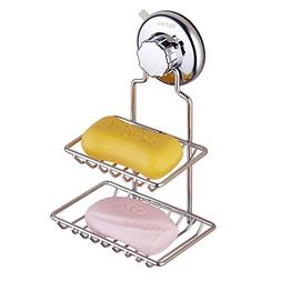 BQTime Soap Dish Holder, Super Power Vacuum Suction Cup Soap