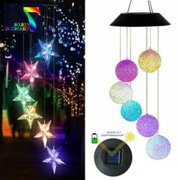 Solar Color Changing LED Wind Chimes Home Garden Yard Hangin