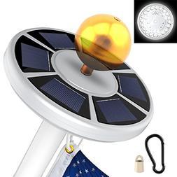 Yoozon Solar Flag Pole Light, 26 LED Flag Pole Lights Weathe
