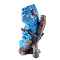 Solar Garden Decor Chameleon Figurine | Lawn and Yard Decora