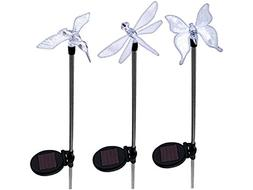Solar Garden Stake Lights Hummingbird, Dragonfly and Butterf