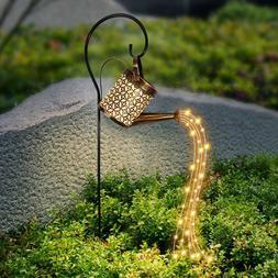 Solar Garden Stakes Water Faucet Fairy Light Yard Lawn Art O