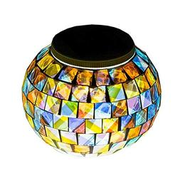 solar glass ball table light