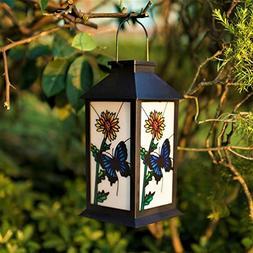 ExcMark Outdoor Solar Hanging Lantern Lights LED Decorative