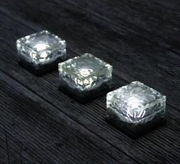 Frostfire Solar Ice Rocks - Path and garden solar lights