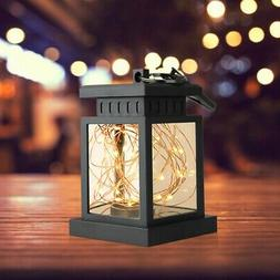 Solar Lantern Hanging Light LED Yard Patio Garden Lamp Water