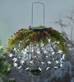 Solar Lantern Holiday Wreath Topper