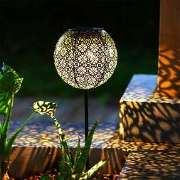 Solar Lantern Outdoor Hanging Lanterns Garden Lights Metal Y