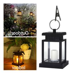 Solar LED Candle Hanging Light Lanterns Lamp Waterproof Summ