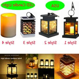 Solar LED Candle Light Flickering Home Garden Decorative Lam
