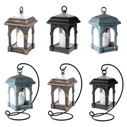 Candle Lantern Solar LED Light Waterproof Hang Lamp Outdoor