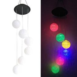 Solar LED Color Changing Wind Chimes Yard Garden Home Window