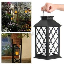 Solar LED Light Lantern Hanging Lamp Garden Yard Patio Lands