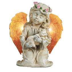 Solar Lighted Angel Pet Garden Memorial Stones, by Collectio