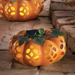 Solar Lighted Decorative Fall Pumpkin Halloween Thanksgiving