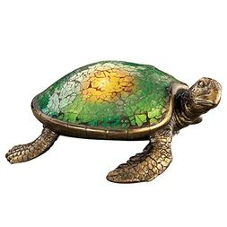 Solar Lighted Mosaic Garden Sea Turtle, Green
