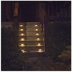 Solar Lights for steps decks pathway yard stairs fences, LE