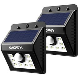 Mpow Solar Lights, 2-Pack LED Motion Sensor Wall Light Brigh