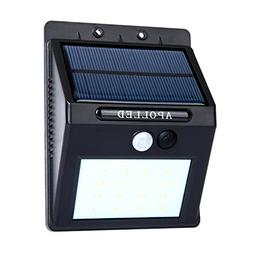 Solar Lights, APOLLED 16 LED Outdoor Wireless Solar Energy P