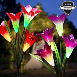 Solar Lights Outdoor,Solar Flower Lights,Solar Garden Lights