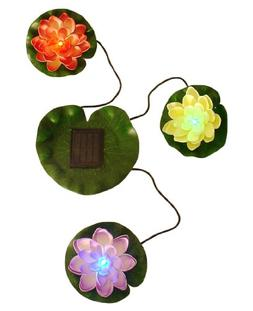 Beckett Corporation Solar Lily Lights for Pond