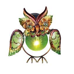 Solar Metal Bird Garden Figurine Owl, Owl