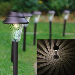 Enchanted Spaces Solar Path Light, Set of 6, Bronze