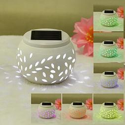 Color Changing Solar Patio Lights, Solar Lantern, Waterproof