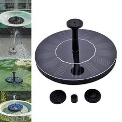 Solar Power Bird Bath Fountain,SOONHUA Solar Panel Water Flo