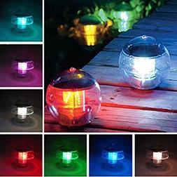 Superdream Solar Power LED Color Changing Globe Night Light