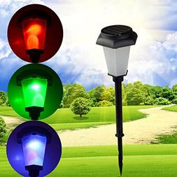 KAMOLTECH Solar Power Colorful Changing LED Light Garden Law