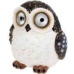 Solar Power Outdoor Garden Large Owl Decorative Spot Light -