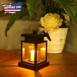 Solar Power Lantern Hanging Light Outdoor Garden LED Lamp fo