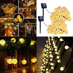 Solar Powered 30 LED String Light Garden Path Yard Decor Lam