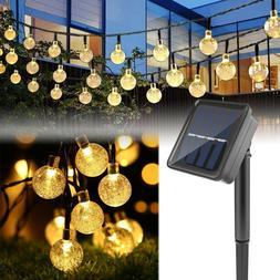 Solar Powered 30 LEDs String Light Garden Path Yard Patio De