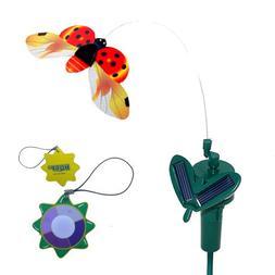 HQRP Solar Powered Flying Ladybug / Ladybird Red for Garden