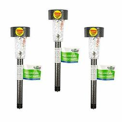 solar powered garden decor stake path lawn