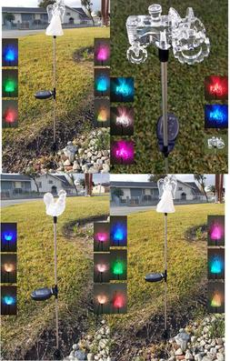 Solar Powered Garden Decor Stake Pathway  Lawn Yard LED Outd