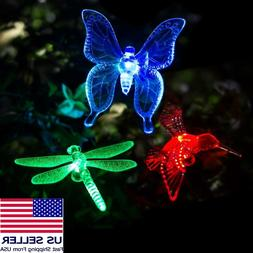 Solar Powered Garden Stake Butterfly, Hummingbird or Dragonf