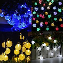 Solar Powered Landscape 30 LED String Light Garden Path <fon