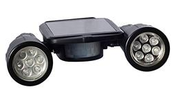 Solar Powered Security Two Super Bright Spot Lights with Mot
