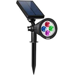 Amir LED Solar Powered Outdoor Spotlights -Waterproof,180°A