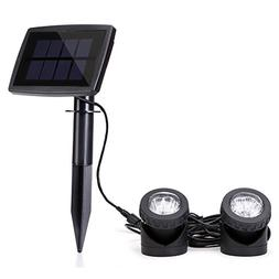 Solar Powered Spotlights with 2pcs Lamps Holder Waterproof P